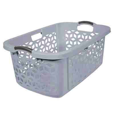 2 bu Stacking Laundry Basket Gray - Room Essentials™