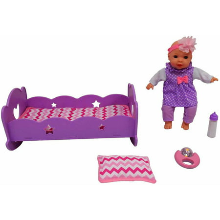 Msl 12   Baby And Rocking Crib With Sounds  Purple