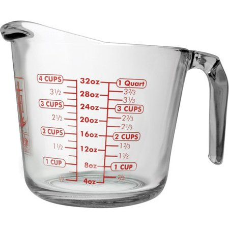 Anchor hocking 4 cup decorated glass measuring cup for 4 tablespoons to cups