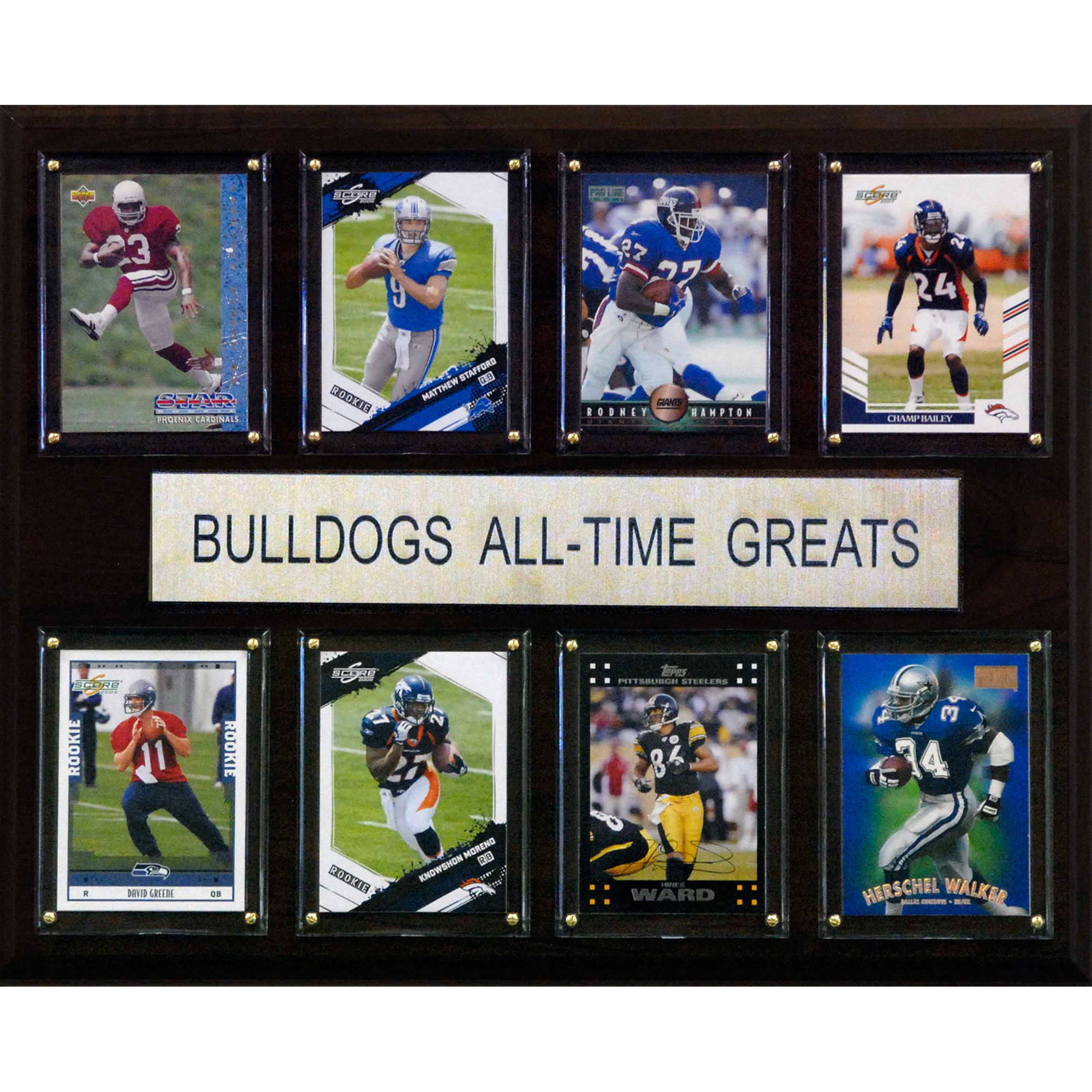 C&I Collectables NCAA Football 12x15 Georgia Bulldogs All-Time Greats Plaque