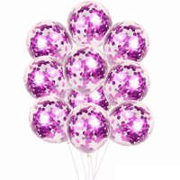 10pcs 12 inch Foil Latex Confetti Balloon Set Wedding Birthday Baby Shower