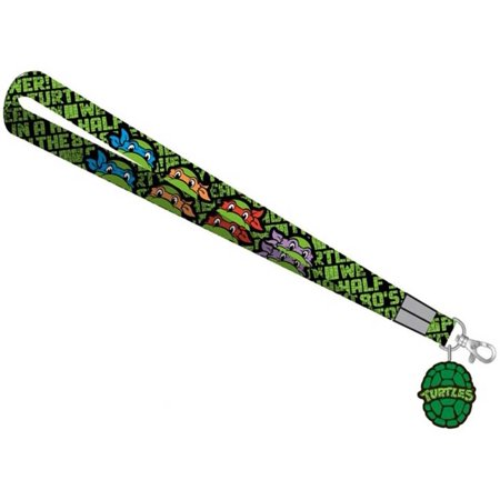 Teenage Mutant Ninja Turtles Logo Lanyard with Logo Charm](Ninja Turtles Names And Color)