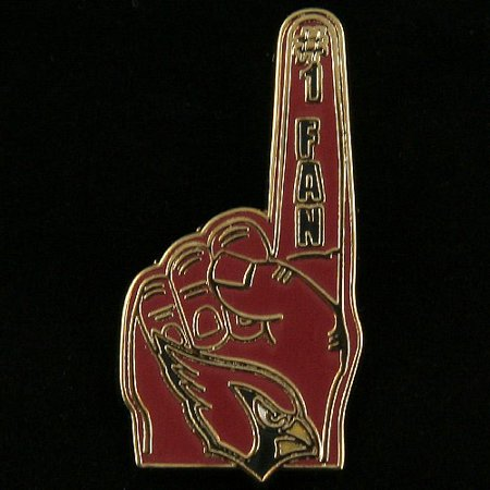 Arizona Cardinals #1 Fan Pin - No Size