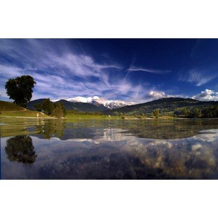 LAMINATED POSTER Mont Blanc Nature Landscape Monte Bianco Alps Poster Print 24 x 36
