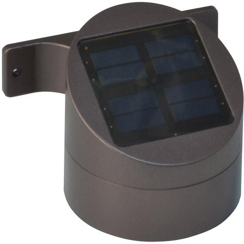 Moonrays 15-Lumen Wall Mount Solar Powered Deck Sconce, Bronze