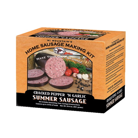 Hi Mountain Jerky Cracked Pepper and Garlic Sausage -