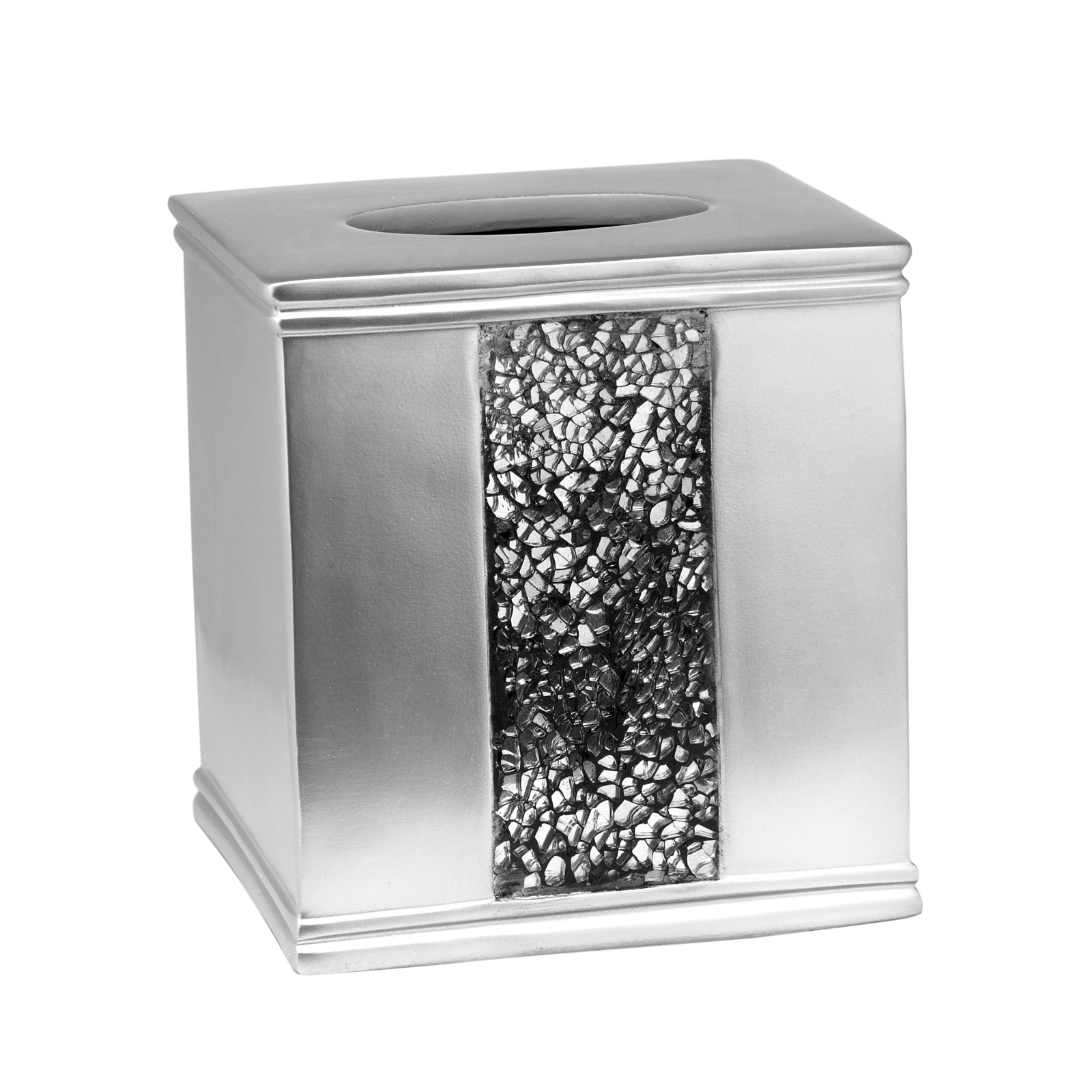 Popular Bath Sinatra Silver Collection - Bathroom Tissue Box Cover