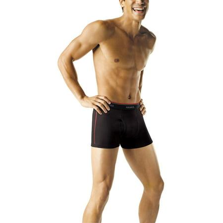 (Hanes Mens Tagless Short Leg Sport Inspired Boxer Brief, 5 + 2 Pack)