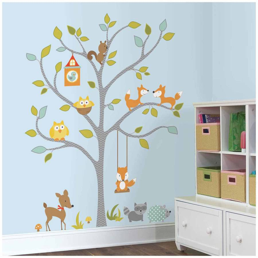 Ordinaire Woodland Fox And Friends Tree Peel And Stick Wall Decals