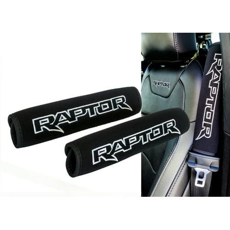 Pleasant Raptor Logo Black Neoprene Automotive Seat Belt Covers For Unemploymentrelief Wooden Chair Designs For Living Room Unemploymentrelieforg