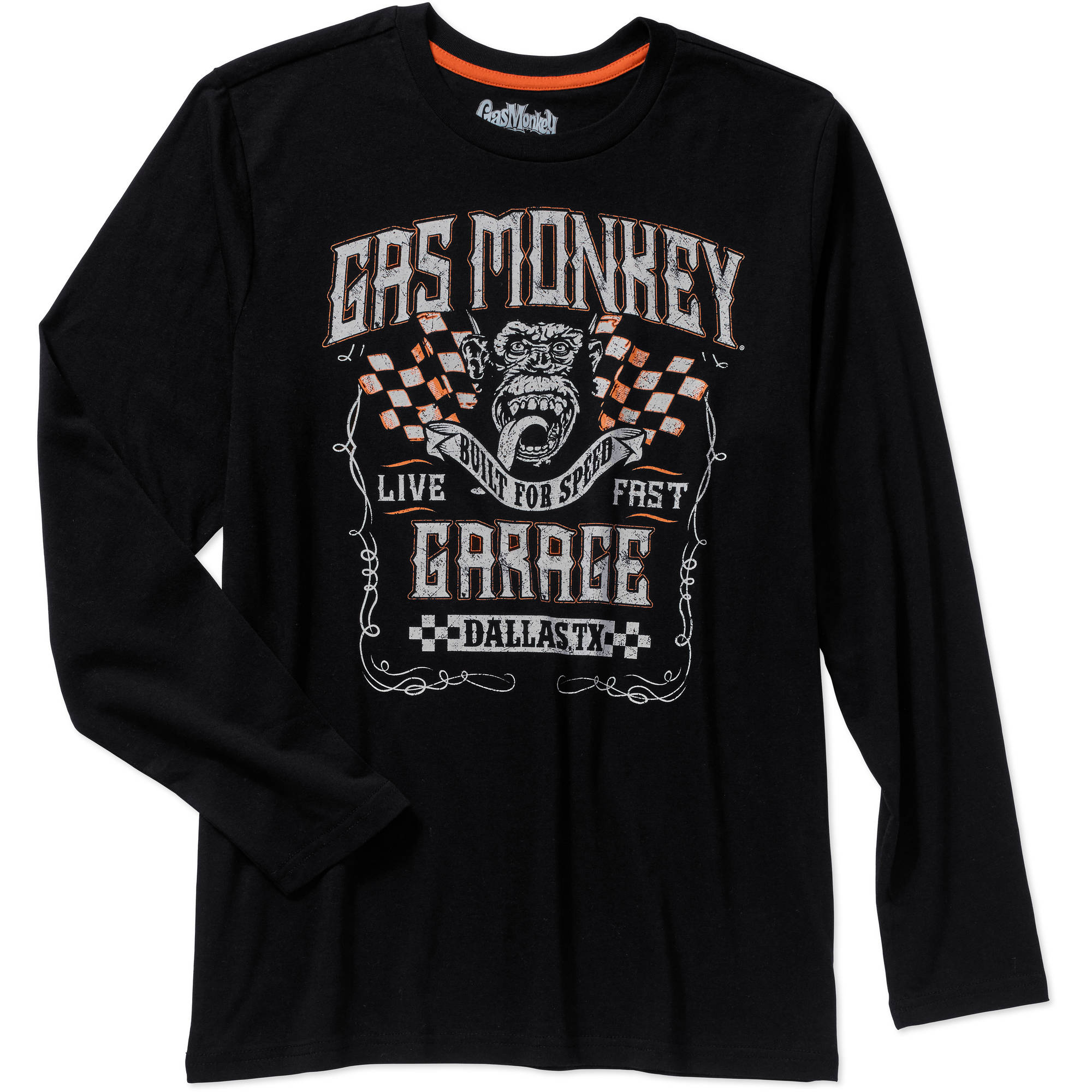Gas Monkey Men's Long Sleeve Graphic Jersey Tee