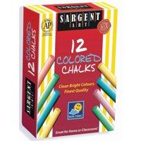 Sargent Art Dustless Chalk, 12-Sticks, Assorted Colors