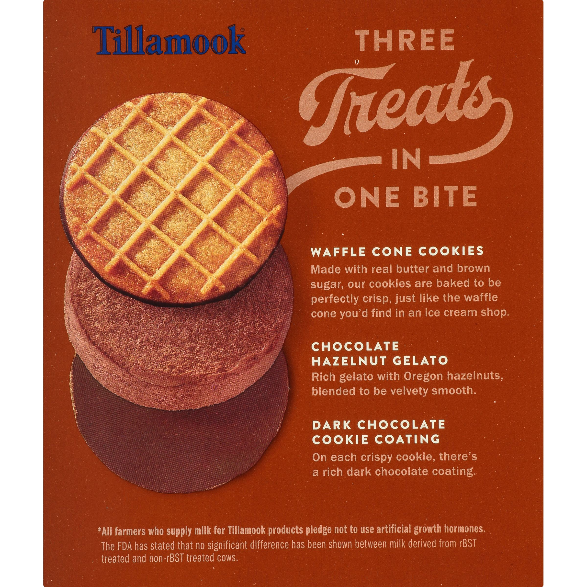 Tillamook Tillamookies Chocolate Hazelnut Really Creamy Gelato Sandwiches,  4  3.5 Oz Sandwiches   Walmart.com