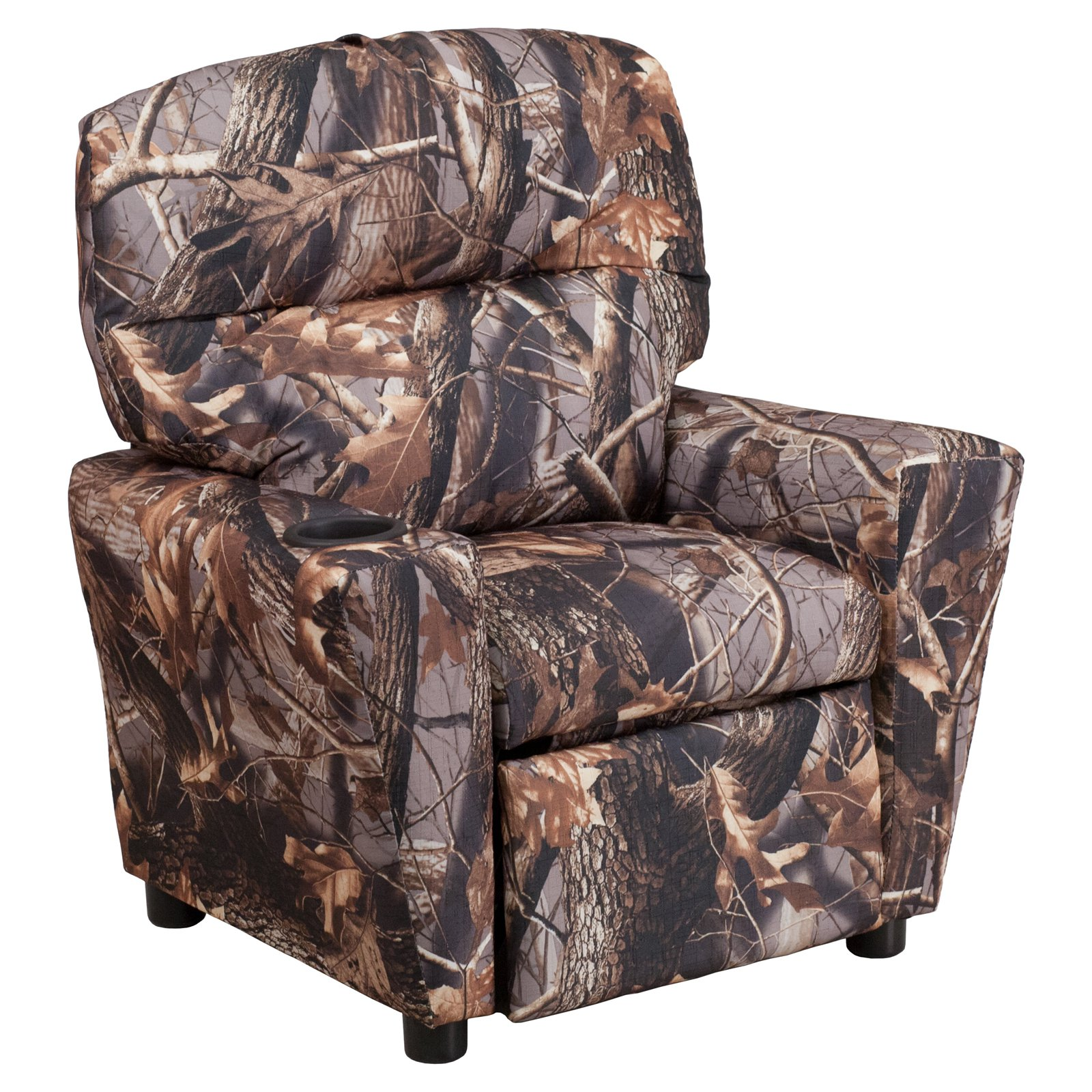 Flash Furniture Contemporary Fabric Kids Recliner with Cup Holder