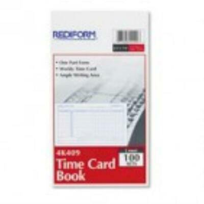 Rediform Time Card - Rediform Employee Time Card, Weekly, 4-1/4 x 7, 100/Pad