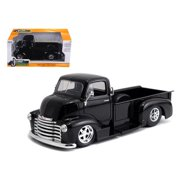 Jada 97462 1952 Chevrolet COE Pickup Truck Black with Chrome Wheels 1-24 Diecast Model