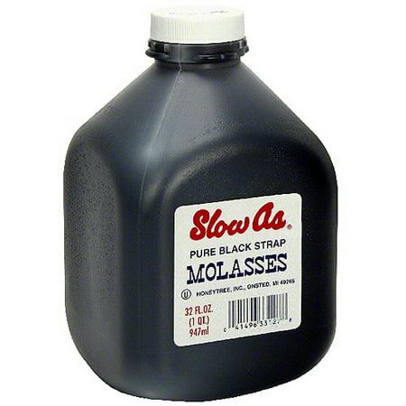 Slow As Blackstrap Molasses, 32 oz (Pack of 6) Black Strap Molasses Iron