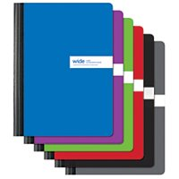 """Office Depot Brand Solid Color Composition Books, 9 3/4"""" x 7 1/2"""", Wide Ruled, 80 Pages (40 Sheets), Assorted Colors"""