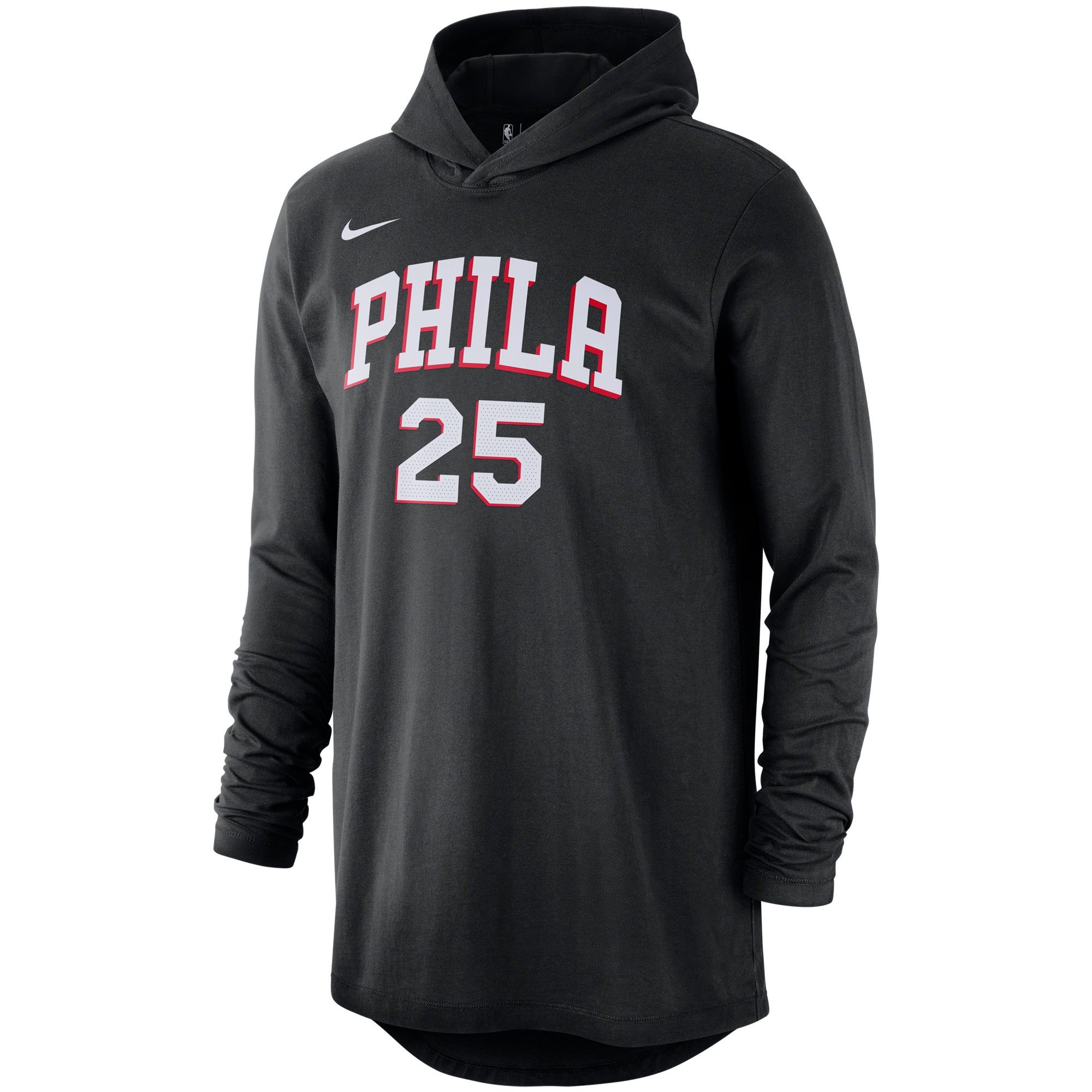 sports shoes f854b 74981 Ben Simmons Philadelphia 76ers Nike Name & Number Hooded ...