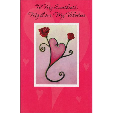 Sweetheart Rose Cup (Freedom Greetings Two Roses Form Heart: Sweetheart Valentine's Day)