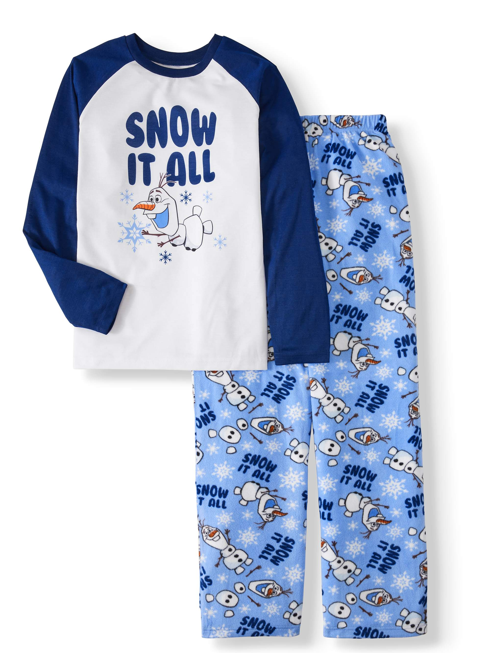 12 Months Disney Baby Boys Mickey Mouse Dream Big Glow in The Dark Snug Fit Cotton Pajamas