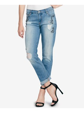 Womens 27x26 Embellished Stretch Jeans 27