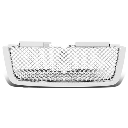 For 2006 to 2009 Chevy Trailblazer LT Diamond Mesh Front Bumper Grille / Grill (Chrome) -GMT360 / 370