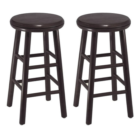 Swivel 24  Counter Stools  Set Of 2  Espresso