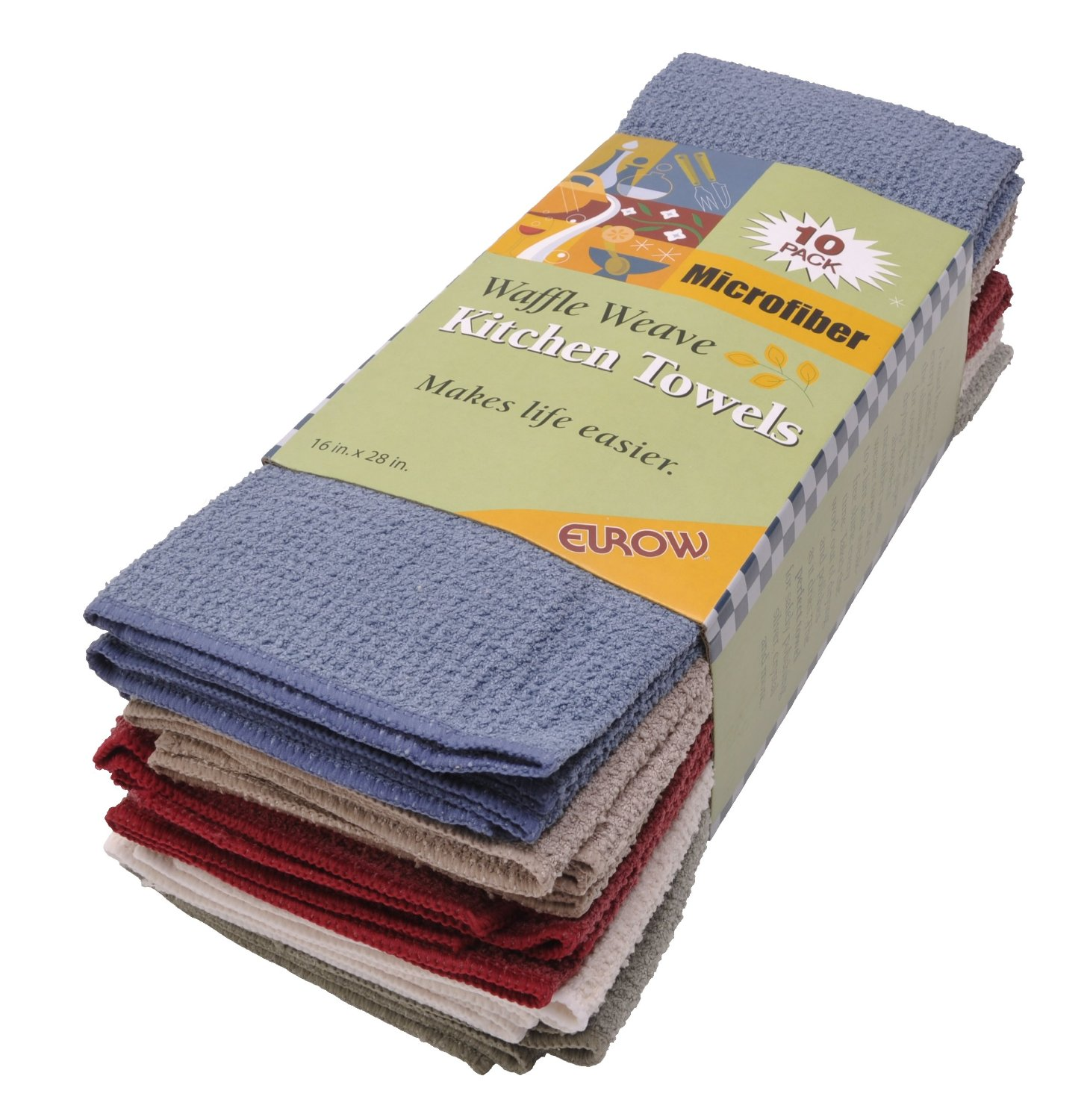 Eurow Microfiber Waffle Weave Kitchen Towels (10-pack) by Eurow & O'Reilly Corp.