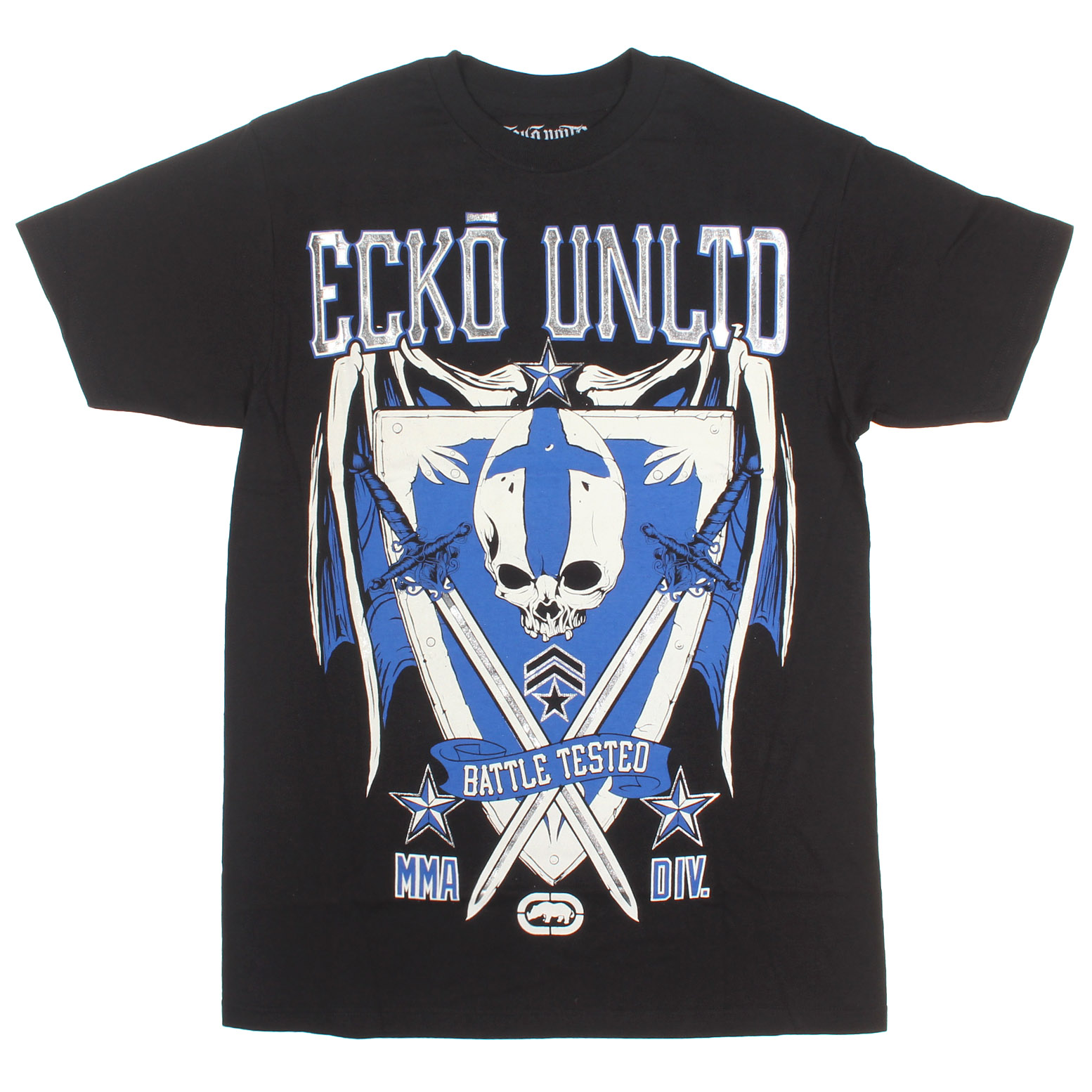 ecko  Men's Division Short Sleeve MMA Tee Real Black Small