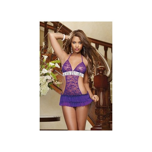 Dreamgirl Royal Flirt Babydoll 9126 Royal