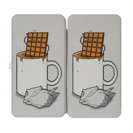 """Hot Chocolate"" Candy Bar Bath Humor - Taiga Hinge Wallet Clutch"