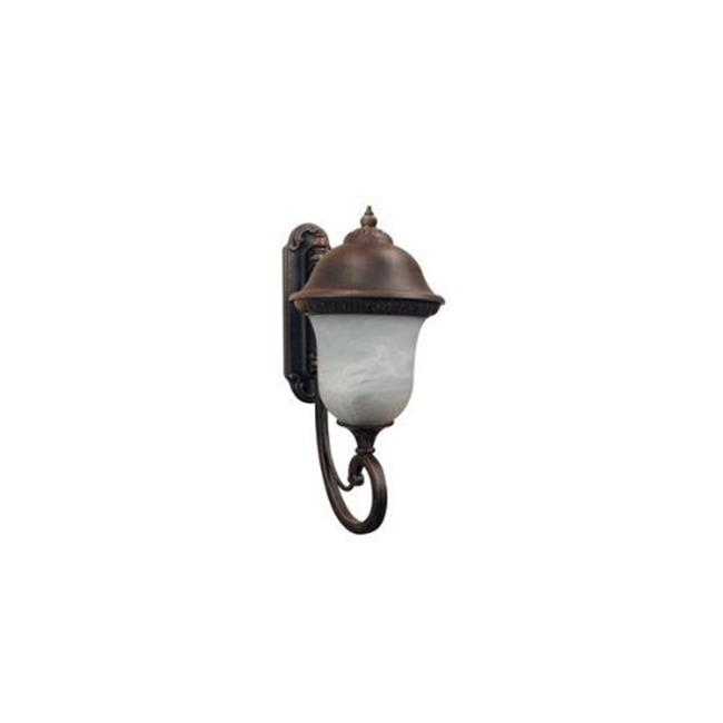 Beaumont Bottom Mount Light w Alabaster Glass (Large - Copper)