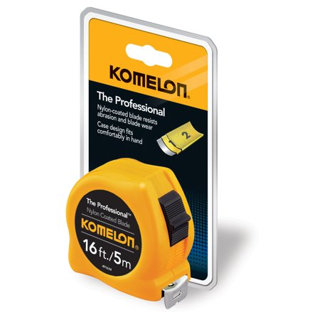 Komelon 16-Foot/5-Meter Professional Inch/Metric Tape