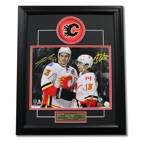 Aj Sports World Mons13252d 23 X 19 In  Sean Monahan   Johnny Gaudreau Dual Signed Calgary Flames Stars Frame