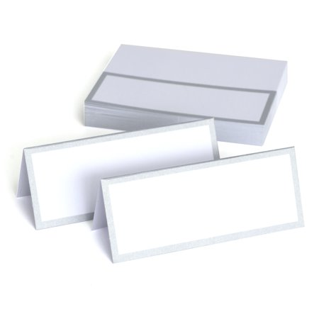 Way to Celebrate Silver Place Cards, 50 Count