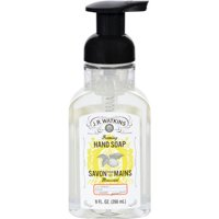 J.R. Watkins Hand Soap - Foaming - Lemon - 9 oz - Case of 6 Liquid Hand Soap