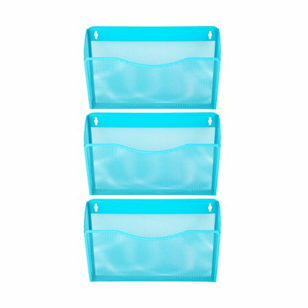 Pro Space 3-Pocket Wall Mount File Organizer Office Mesh Collection