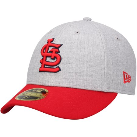 80286e83 St. Louis Cardinals New Era Change Up Low Profile 59FIFTY Fitted Hat -  Heathered Gray/Red
