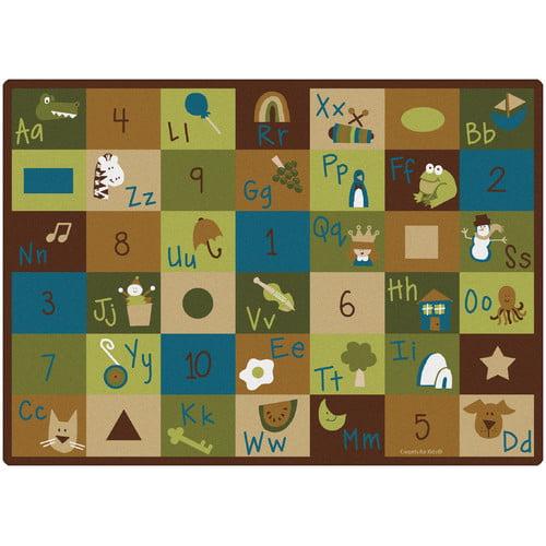Carpets for Kids Learning Blocks Nature Kids Area Rug