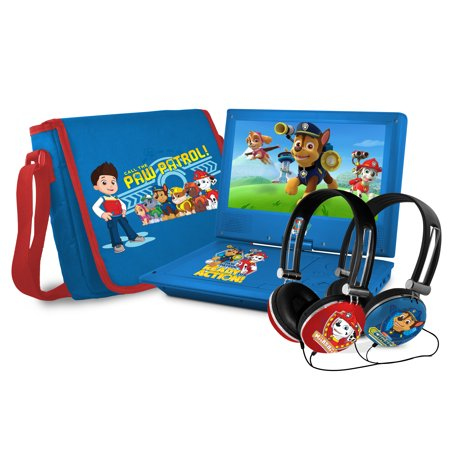 "Paw Patrol 9"" Portable DVD Player with Talk-To-Speech (TTS) Functionality"