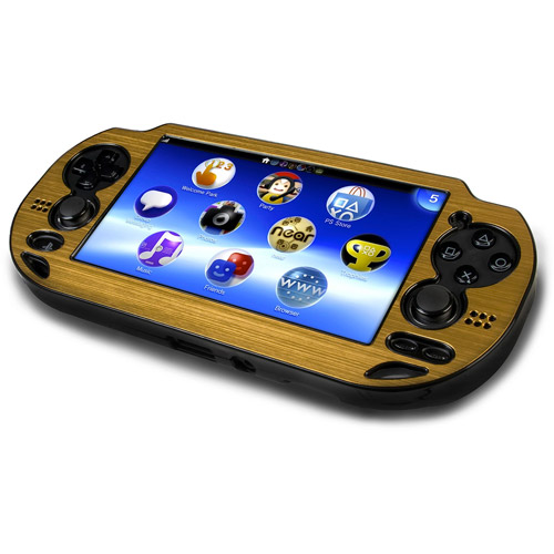 Metallic Faceplate Plastic Case for PS Vita (Gold)