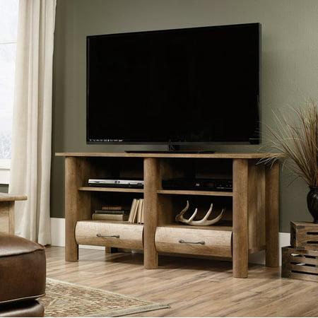 Sauder Woodworking 416598 Boone Mountain Media TV Stand Furniture Craftsman Oak