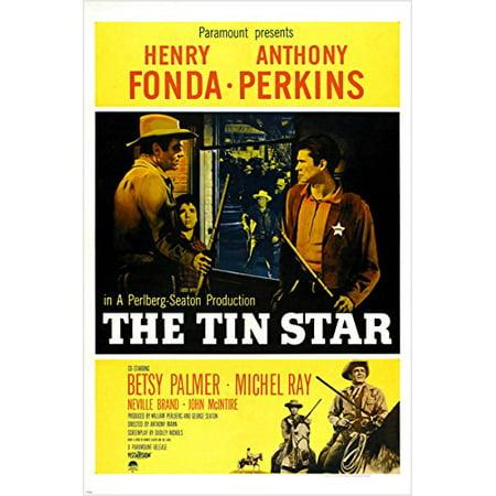 Fields Classic Tin - The Tin Star Classic Movie Poster Henry Fonda Anthony Perkins Western 24X36