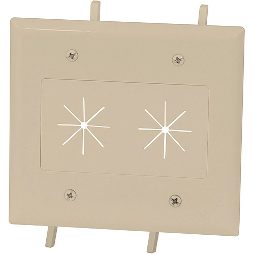 DataComm 45-0015-IV Cable Plate Flex Opening 2-G Easy Mount Series, Ivory