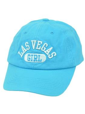 Las Vegas Nevada Sin City Girl Blue Womens Hat Cap Lights Arch Girl Relaxed LV