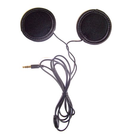 KOKKIA H10 (BLACK cables) Sports/motorcycle helmet stereo earphones. Helmet Audio Accessories