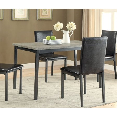 Channing Dining Table Grey and Black ()