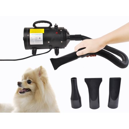 Portable Dog Cat Pet Groomming Blow Hair Dryer Quick Draw Hairdryer W Heater