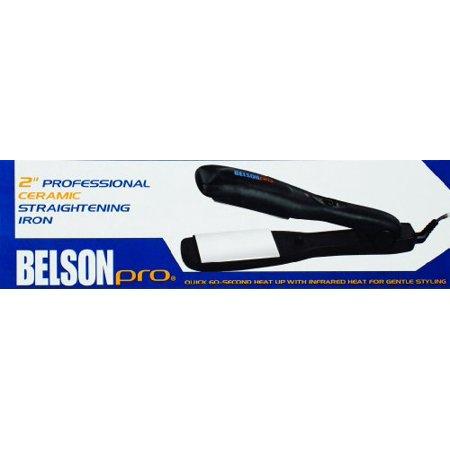 Belson Pro 2 Inch Ceramic Straightening Iron Walmartcom